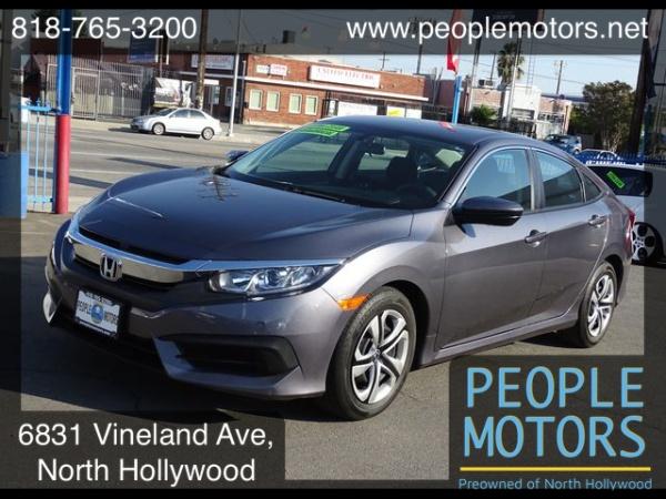 Honda North Hollywood >> 2017 Honda Civic Lx Sedan Cvt For Sale In North Hollywood Ca Truecar