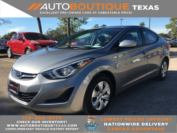 Used Cars Houston By Owner >> Used Hyundai Elantra For Sale In Houston Tx 568 Cars From