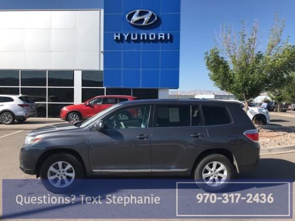 Toyota Grand Junction >> 2013 Toyota Highlander Plus V6 4wd For Sale In Grand