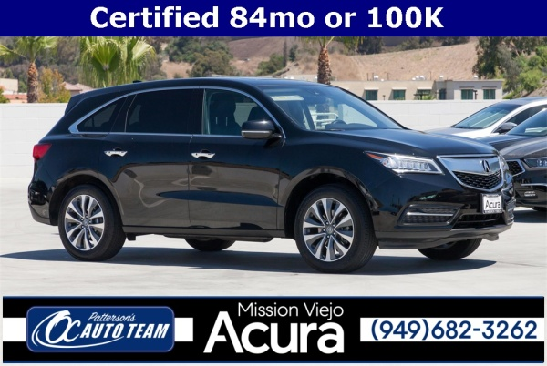 Acura Mission Viejo >> 2016 Acura Mdx Fwd With Entertainment Technology Package For