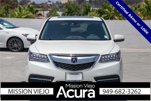 Acura Mission Viejo >> 2016 Acura Mdx Fwd With Technology Package For Sale In Mission Viejo
