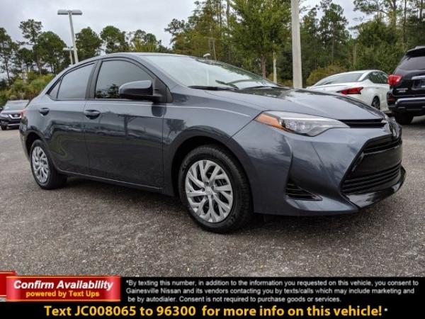 Toyota Gainesville Fl >> 2018 Toyota Corolla Se Manual For Sale In Gainesville Fl