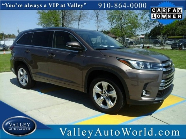Toyota Fayetteville Nc >> 2018 Toyota Highlander Limited V6 Fwd For Sale In Fayetteville Nc