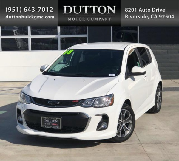2018 Chevrolet Sonic LT With 1SD Hatchback Automatic For