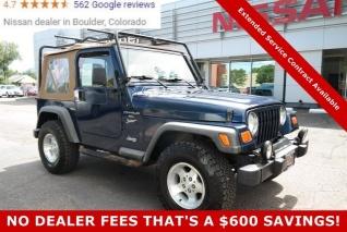 2001 jeep wrangler sport for sale in boulder, co