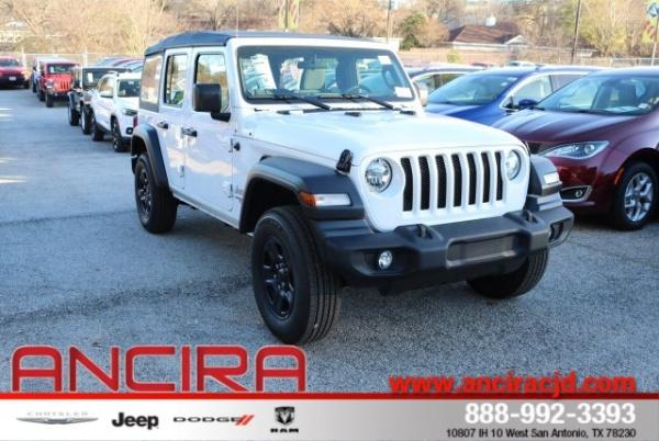 San Antonio Jeep >> 2019 Jeep Wrangler Unlimited Sport For Sale In San Antonio Tx Truecar