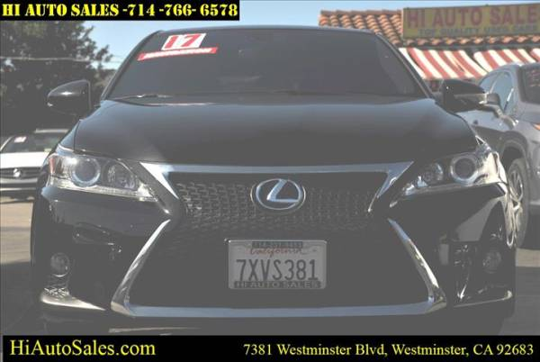 2017 lexus ct ct 200h f sport for sale in westminster ca truecar truecar
