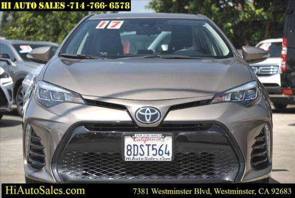 2017 toyota corolla se cvt for sale in westminster ca truecar truecar
