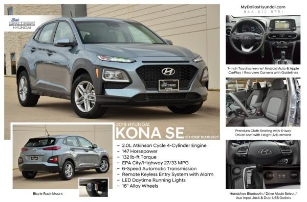 Driver Select Dallas >> 2019 Hyundai Kona Se For Sale In Dallas Tx Truecar