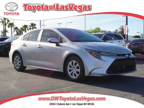 Las Vegas Toyota >> 2020 Toyota Corolla Le Cvt For Sale In Las Vegas Nv Truecar
