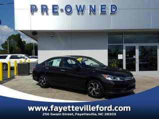 Used 2016 Honda Accord LX Sedan I4 CVT For Sale In Fayetteville, NC
