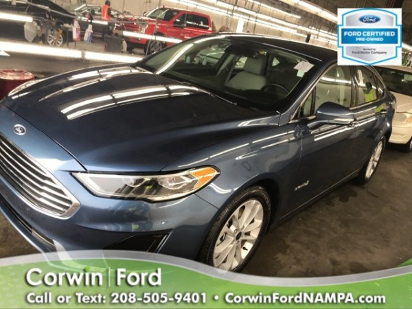 Corwin Ford Nampa >> 2019 Ford Fusion Hybrid Sel Fwd For Sale In Nampa Id Truecar