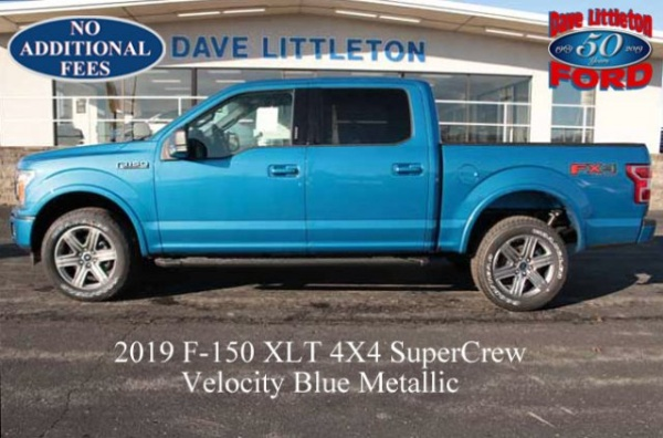 Dave Littleton Ford >> 2019 Ford F 150 Xlt Supercrew 5 5 Box 4wd For Sale In