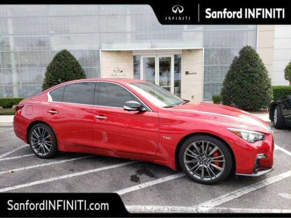 Infiniti Of Sanford >> 2018 Infiniti Q50 Red Sport 400 Rwd For Sale In Sanford Fl
