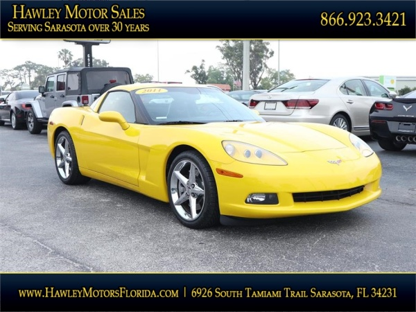 2011 Chevrolet Corvette Coupe with 2LT For Sale in Sarasota