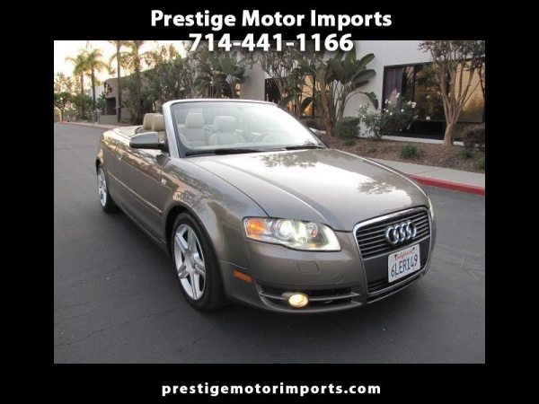 2007 Audi A4 2007 Cabrio 20t Fronttrak Cvt For Sale In Brea Ca