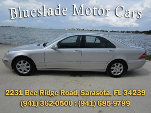 Mercedes Benz Sarasota >> 2001 Mercedes Benz S Class S 430 For Sale In Sarasota Fl