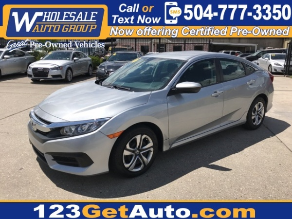 2016 Honda Civic Lx Sedan Cvt For Sale In Kenner La Truecar