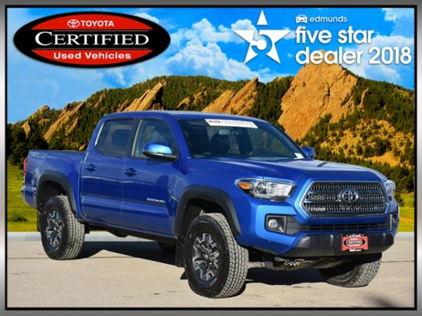 2016 Toyota Tacoma Trd Off Road Double Cab 5 Bed V6 4wd Automatic Boulder Co 44 522 Miles Certified Pre Owned In