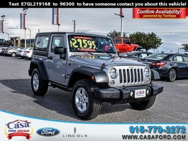 used jeep wrangler for sale in el paso tx u s news world report. Black Bedroom Furniture Sets. Home Design Ideas