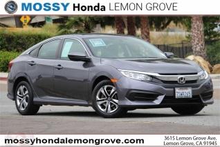 2016 Honda Civic Lx Sedan Cvt For In Lemon Grove Ca