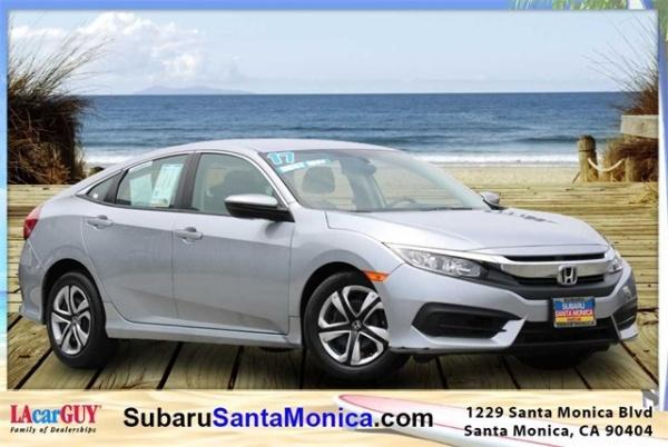 Santa Monica Honda >> 2017 Honda Civic Lx Sedan Cvt For Sale In Santa Monica Ca
