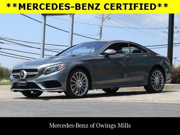 Mercedes Owings Mills >> 2016 Mercedes Benz S Class S 550 4matic Coupe For Sale In