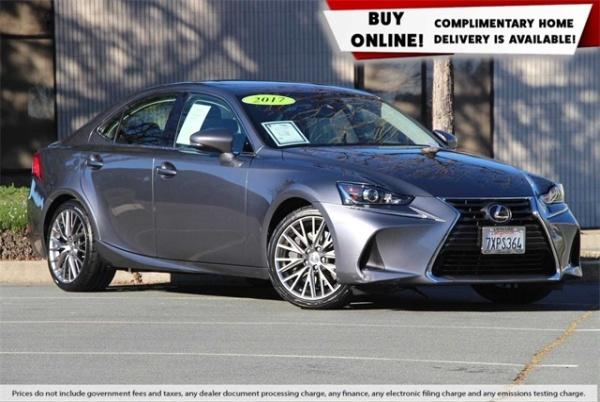 2017 Lexus IS in Concord, CA