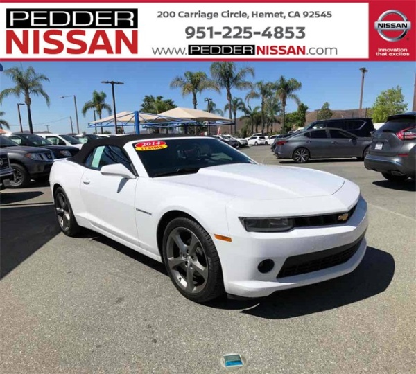 2014 Chevrolet Camaro Lt With 2lt Convertible For Sale In