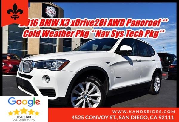 2016 BMW X3 in San Diego, CA
