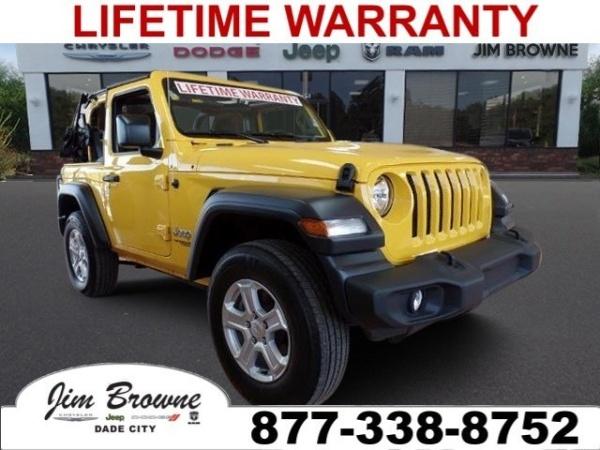 Jim Browne Jeep >> 2019 Jeep Wrangler Sport S For Sale In Dade City Fl Truecar