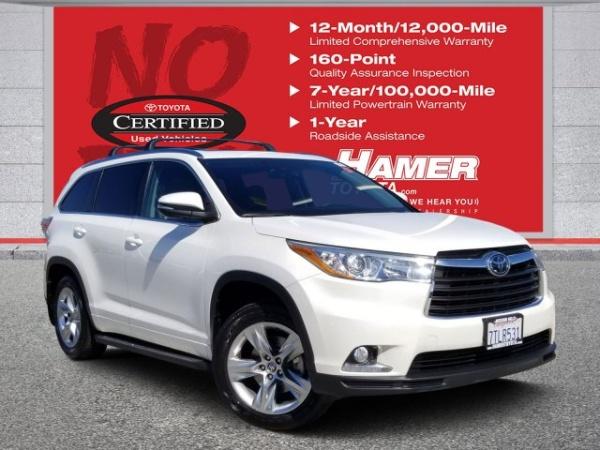 Toyota Mission Hills >> 2016 Toyota Highlander Limited V6 Fwd For Sale In Mission