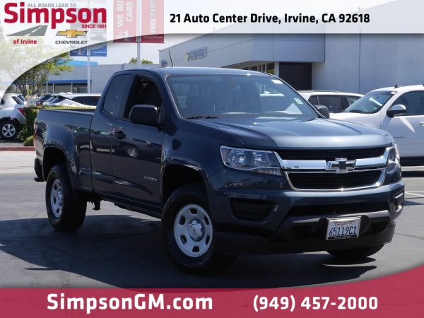 2019 Chevrolet Colorado Work Truck Extended Cab Standard Box