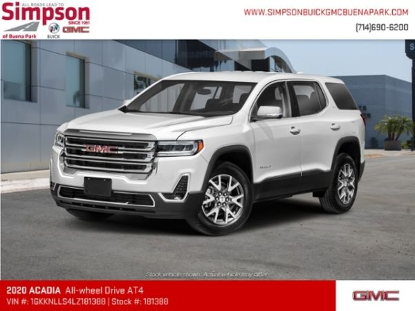 2020 Gmc Acadia At4 For Sale In Buena Park Ca Truecar