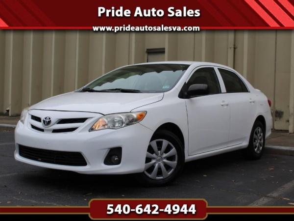 Pride Auto Sales >> 2011 Toyota Corolla S Manual For Sale In Fredericksburg Va