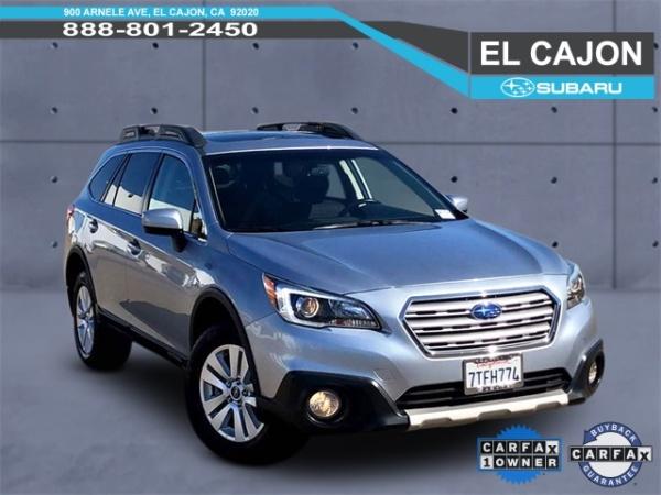 El Cajon Subaru >> 2016 Subaru Outback 2 5i Premium Pzev For Sale In El Cajon Ca