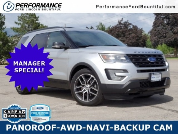 Performance Ford Bountiful >> 2016 Ford Explorer Sport 4wd For Sale In Bountiful Ut Truecar